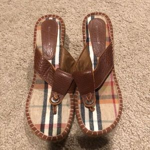 Burberry sandal wedges